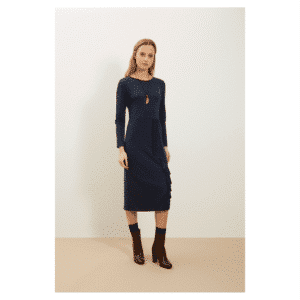 People Tree - Alona Dress Navy - R263US.NY1-3
