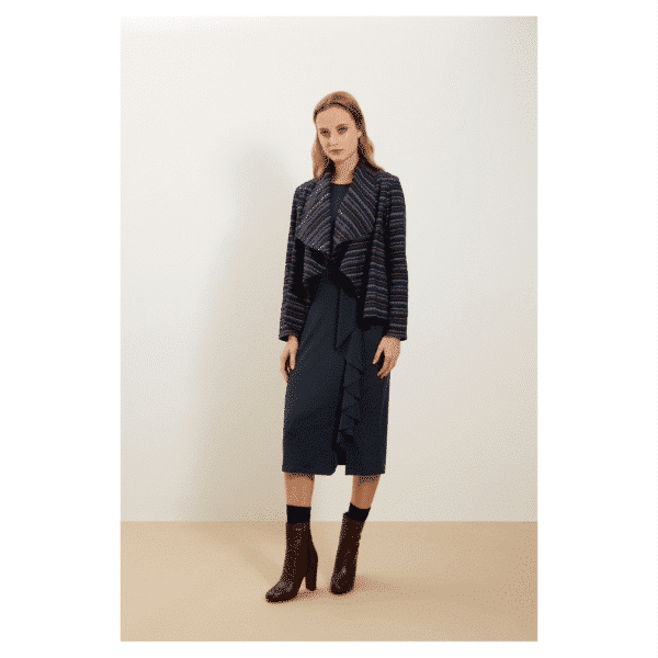 People Tree - Hannelle Waterfall Jacket Navy - R002US.NY1-3