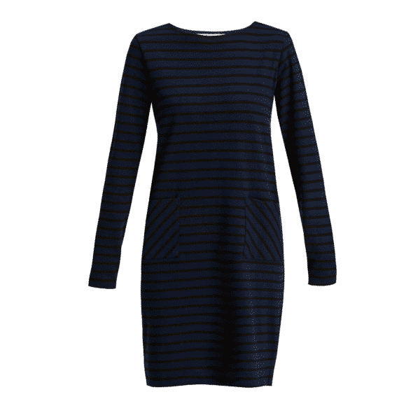 People Tree - Harper Stripe Tunic Navy - R202US.NY1
