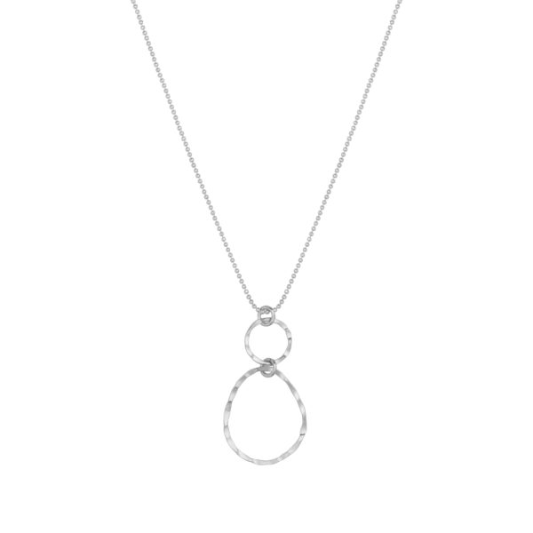 Hinth - Necklace Crazy Circles - Silver