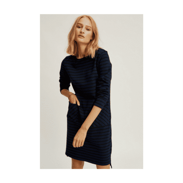 People Tree - Harper Stripe Tunic Navy - R202US.NY1-2