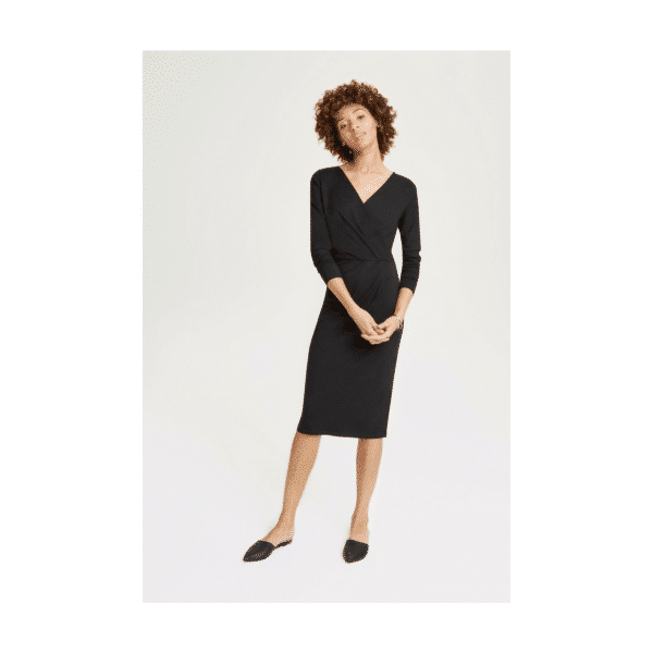 People Tree - Irene Wrap Dress Black - R356US.BK1-2