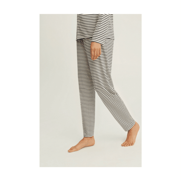 People Tree - Stripe Pyjama Trousers Navy - R436US.NY1-2