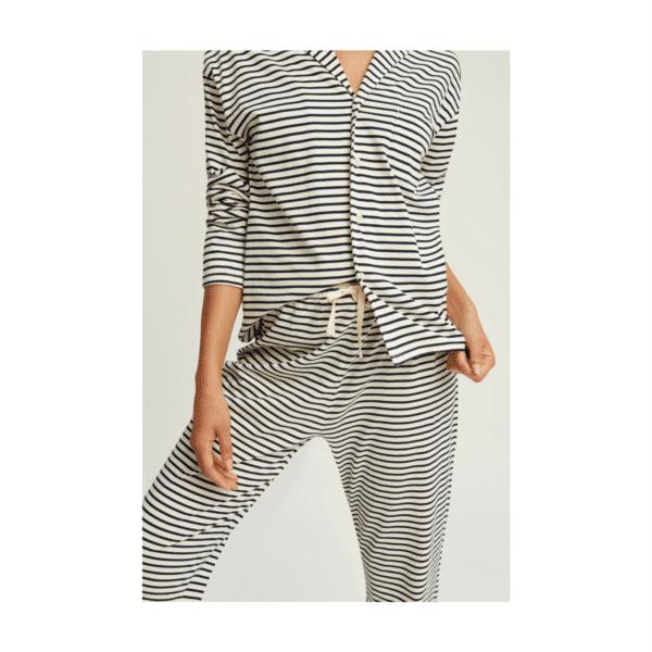 People Tree - Stripe Pyjama Trousers Navy - R436US.NY1-4