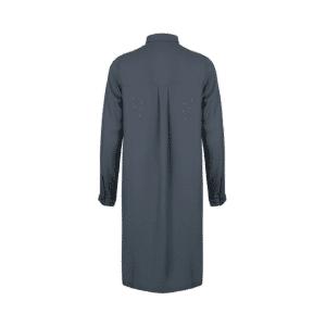 Studio Jux - Long Blouse Gris-vert Vegan Silk-2