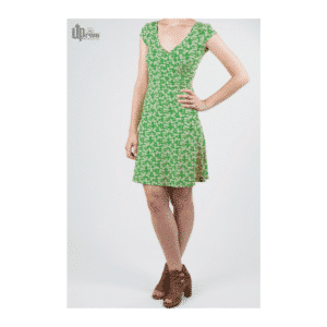 Uprise - Party Dress - Leaf Green Blossoms