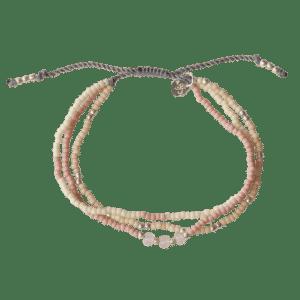 A Beautiful Story - BL22219 Summer Roze Quartz mixed bracelet