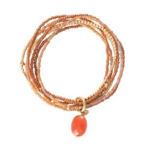 A Beautiful Story - BL23453-Nirmala Carnelian Gold Bracelet