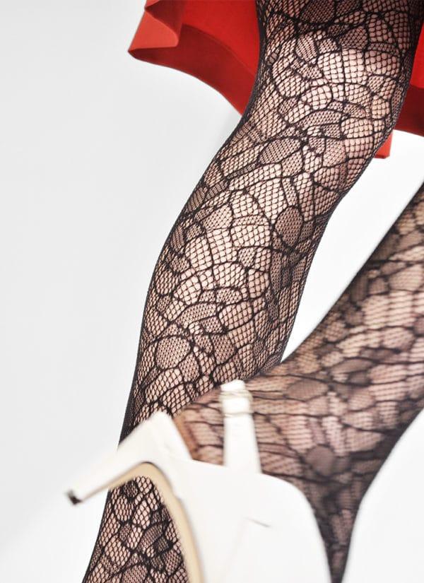 Swedish Stockings - Edith Lace Tights - Black (2)