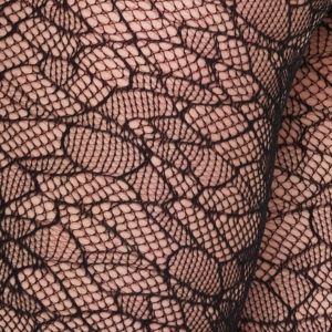 Swedish Stockings - Edith Lace Tights - Black