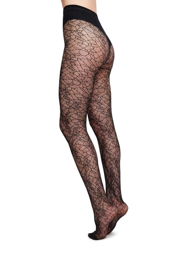 Swedish Stockings - Edith Lace Tights - Black (4)