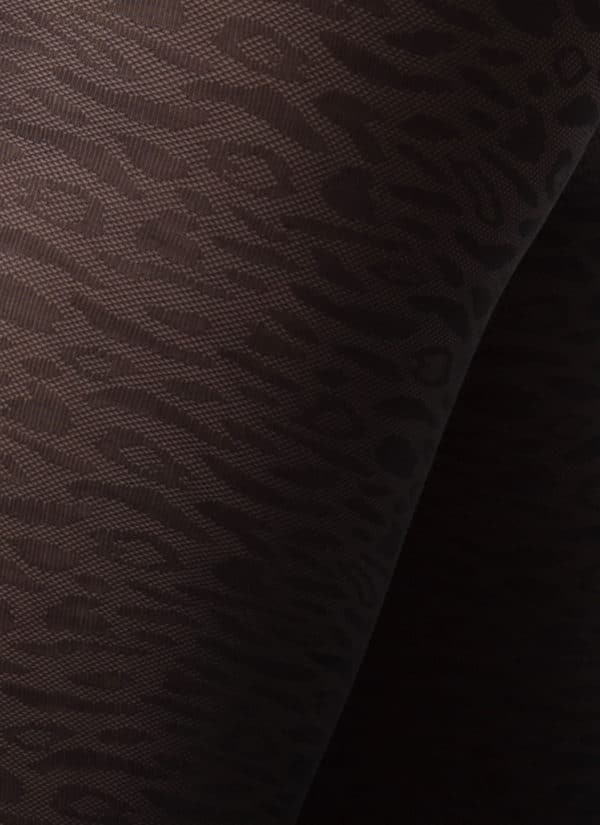 Swedish Stockings - Emma Leopard Tights - Black 1