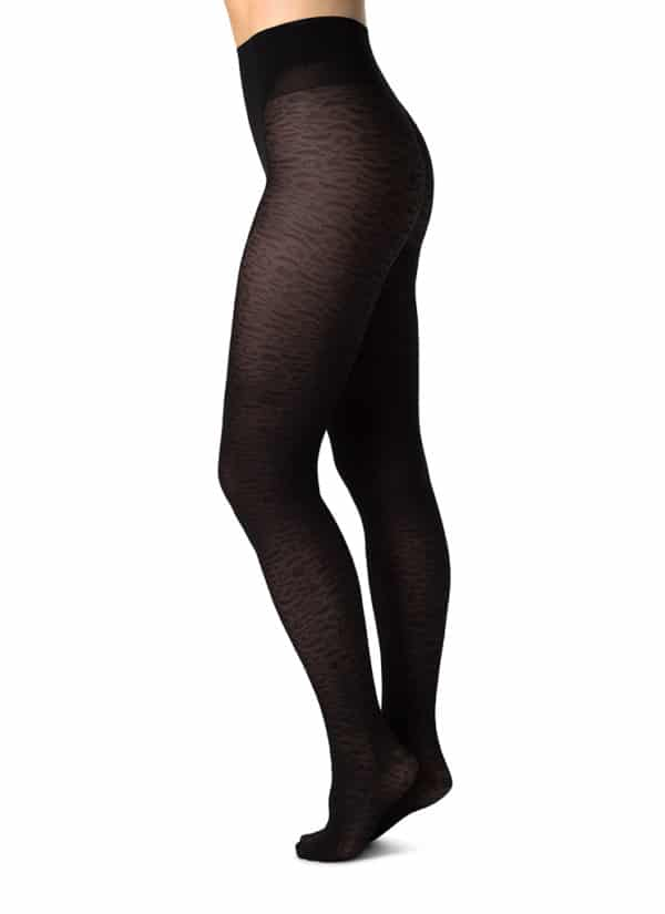 Swedish Stockings - Emma Leopard Tights - Black 3