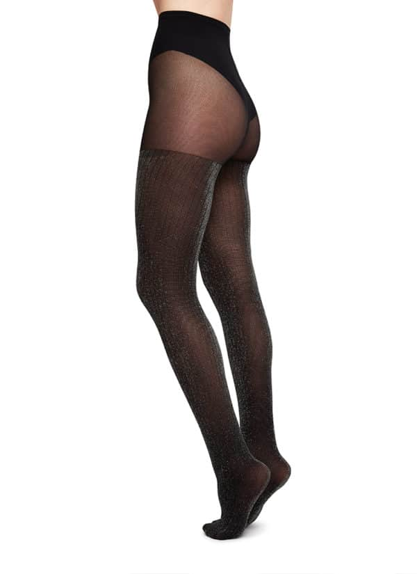 Swedish Stockings - Lisa Lurex Rib Tights 1 (2)