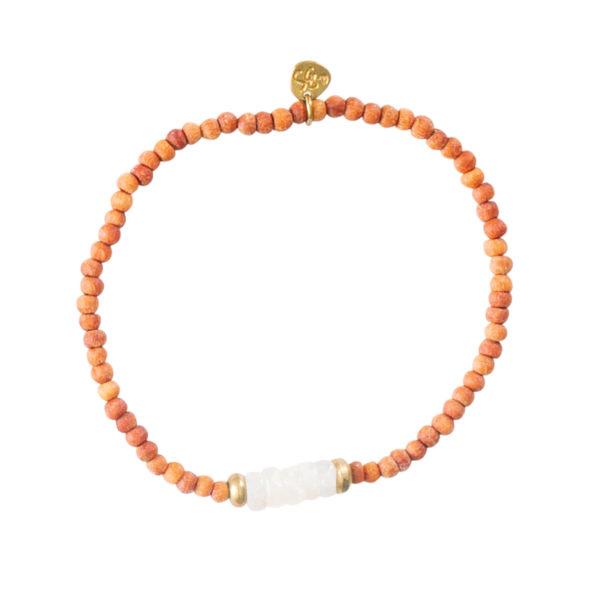 A beautiful story - BL22368-Mala Moonstone Gold Bracelet