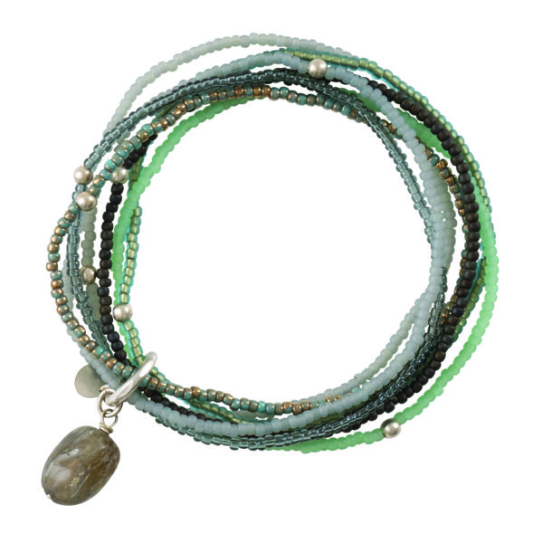 A beautiful story - BL22653-Nirmala Labradorite Silver Bracelet
