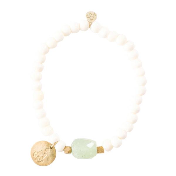 A beautiful story - BL23269-Namaste Aventurine Buddha Coin Gold Bracelet