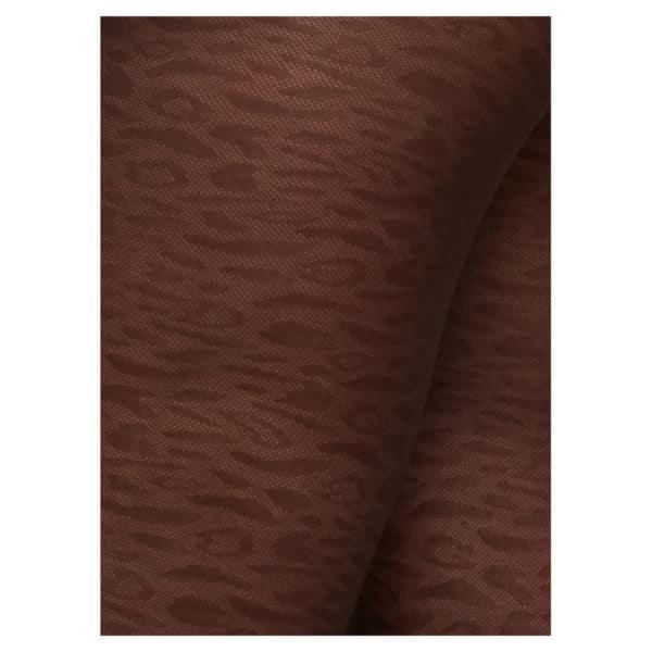 Swedish stockings - Emma Leopard Tights - Dark Brown
