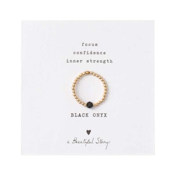 A Beautiful Story - BL22476-Sparkle-Black-Onyx-Gold-Card