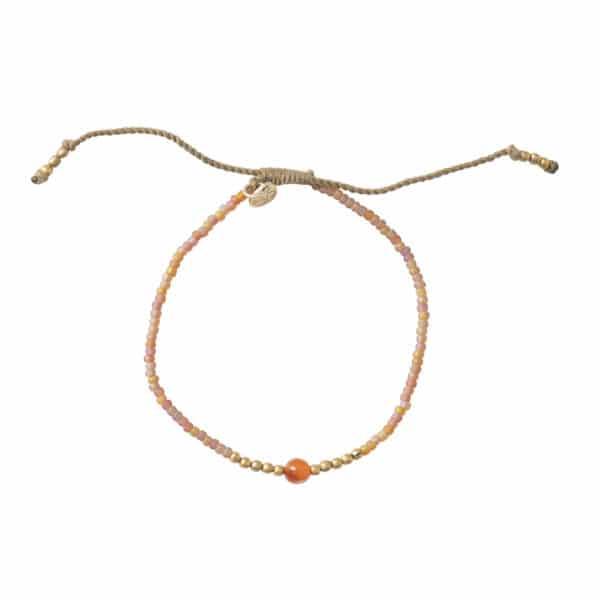 A Beautiful Story - BL23480 Twinkle Carnelian Gold Bracelet