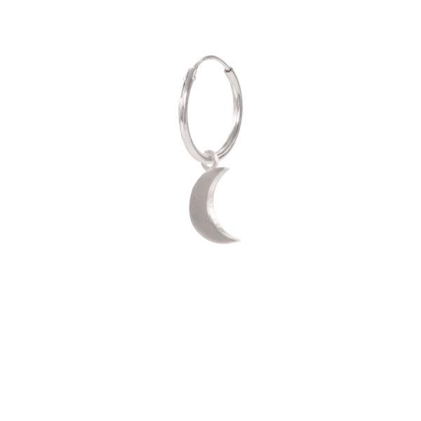 A Beautiful Story - ES1001-Big-Moon-Sterling-Silver-Hoop-Earring
