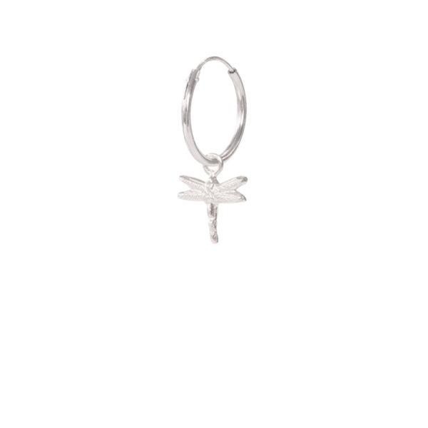 A Beautiful Story - ES1011-Dragonfly-Sterling-Silver-Hoop-Earring