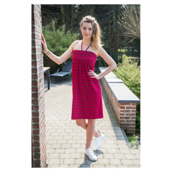 Tranquillo - S19F7-Gwen-Dress-leaf-Kleid (1)