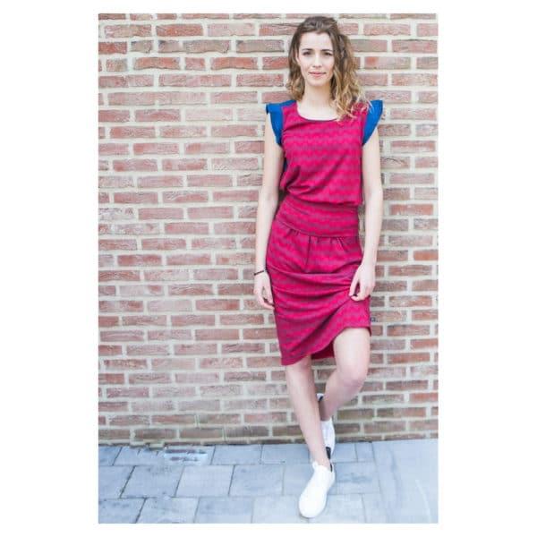 Tranquillo - S19F7-Gwen-Dress-leaf-Kleid (4)